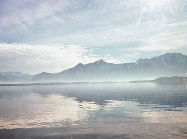 Daddy took this photo one calm and tranquil morning at Chiemsee, Germany, November 1972.