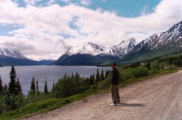 Let the distant vision enhance the beauty of where you are now. Drew on a road in the Yukon, June 2000