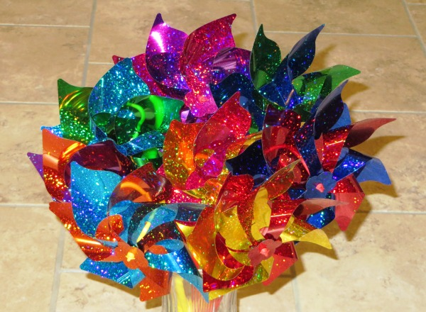 Ever seen a pinwheel bouquet? If not -- now you have! My day was made considerably brighter by this colorful surprise, April 2016