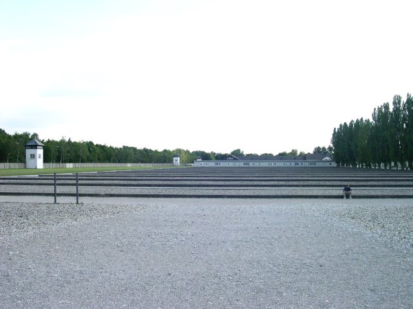 A place of countless tears: Drew contemplates Dachau, August 2005.