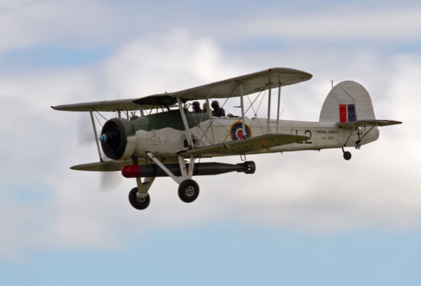The Little Biplane that Could: obsolete or not, it changed history. Fairey Swordfish by By Tony Hisgett, Birmingham, UK. CC BY 2.0 via Wikimedia Commons
