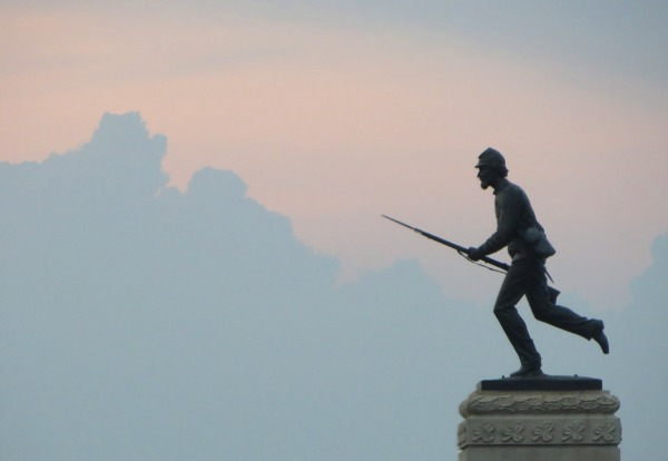 This Gettysburg monument honors the 262 troops of the 1st Minnesota Infantry, who charged a force of 1600, buying time with an unprecedented 82% casualty rate.