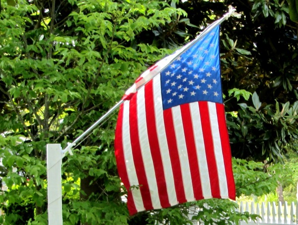 The flag flies at a home in Yorktown, Virginia, May 2013.