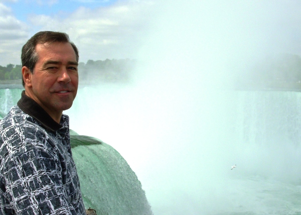 Jeff at Niagara Falls, a place he loved. May 2009