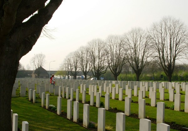 From Flanders Fields to Arlington and many points in between, Amy has walked a long and winding road with me. Ieper, Belgium, March 2007