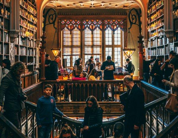 Livraria Lello, Porto, Portugal, photo by